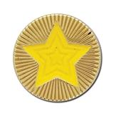 Round Star Enamel Badge - Yellow