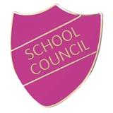 School Council Enamel Shield Badge - Orchid