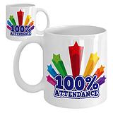 100% Attendance Ceramic Mug