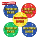 Holographic Lunchtime Award Stickers (70 Stickers - 25mm)