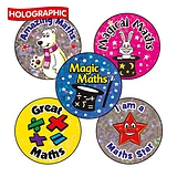 Holographic Mixed Maths Stickers (70 Stickers - 25mm)