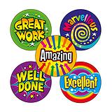 Bright Wording Reward Stickers (70 Stickers - 25mm)
