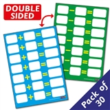 A6 Dry Wipe Number Facts Addition & Subtraction Cards x 30