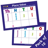 Place Value Dry Wipe Card (10 Cards - A6 Double Sided)