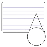Lined Mini Whiteboard (A4)