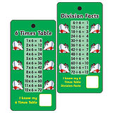 6 Times Tables & Division Facts - Pack of 10 Pocket Prompts