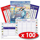 Spelling Record Books - Polar (100 Books Included)