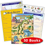 Box of 50 Dinosaur Themed 40 Page Reading Record Book