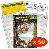 Reading Record Book - Jungle (50 Books Included)
