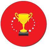 Personalised Trophy Stickers - Red (35 per sheet - 37mm)