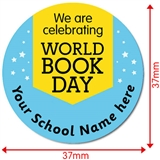 Personalised World Book Day Stickers 35 x 37mm