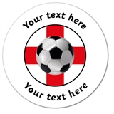 Customised England Stickers - World Cup 2018 (35 per sheet - 37mm)