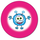 Personalised Monster Stickers (35 per sheet - 37mm)