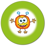 Customised Monster Stickers (35 per sheet - 37mm)