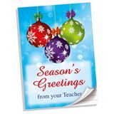 Note Pad: Seasons Greetings from your Teacher (A4 - 50 pages