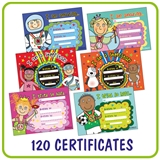 Pedagogs EYFS Certificates Value Pack (120 Certificates - A5)