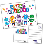Great Effort Postcards Home (20 Postcards - A6)