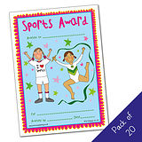 Sports Award Certificates - Pedagogs - Girls (20 Certificates - A5)