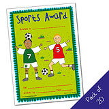 Sports Award Certificates - Pedagogs - Boys (20 Certificates - A5)