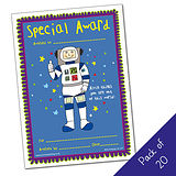 Pack of 20 -Special Award - Astronaut - A5 Cert Pedagogs