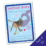 Pack of 20 -Superstar Award - Mermaid - A5 Cert Pedagogs