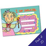 Pack of 20 - I am Amazing - Fairy - A5 Cert Pedagogs