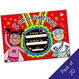 Pack of 20 - I am a Superstar- Hero - A5 Cert Pedagogs