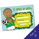 Pack of 20 - I tried so hard - Sport boy- A5 Cert Pedagogs