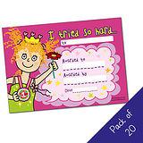 Pack of 20 - I tried so hard - Girl - A5 Cert Pedagogs