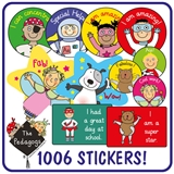 Value Pack of 726 Mixed EYFS Pedagogs Stickers