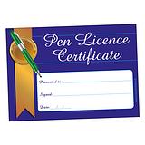 Pen Licence Certificates - Blue (20 Certificates - A5)