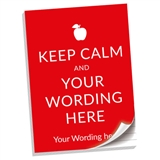 Personalised Keep Calm Notepad (A4, 50 Page, Lined)
