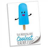 Personalised Coolest Teacher Notepads (A4, 50 Page, Lined)