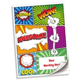 Personalised Comic Book Notepad (A4, 50 Pages, Lined)