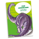 Personalised Dinosaur Notepad (A4, 50 Pages, Lined)