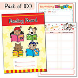 Reading Record Books - The Pedagogs (100 Books Included)