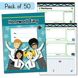 Pedagogs Homework Diaries (50 Books - A5)