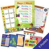 Classroom Display Poster Value Pack (9 Posters - A2 - 620mm x 420mm)