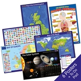 Maps, Flags and Solar System Home Learning Poster Pack (A2)