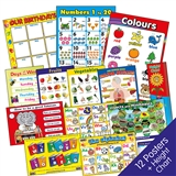Early Years Poster Pack (12 Posters x A2 620mm x 420mm) & Height Chart 1.5m