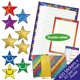 Star Chart and Stickers (Double Sided A2 Poster with 420 Star Stickers)