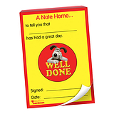 60 Page 'Well Done' Wallace & Gromit A6 Note Home Praisepad