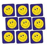 140 Yellow Smiley Stickers