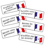 French Grammar Stickers (16 Stickers - 59mm x 20mm)