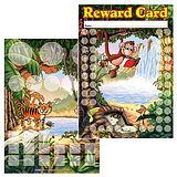 Pack of 30 A5 Jungle Scene Sticker Saver Reward Cards