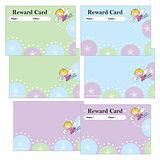 Pack of 30 A5 Mixed Fairies Sticker Saver Reward Cards