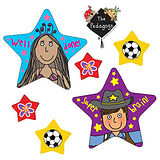 Pedagogs Star Shaped Stickers (27 Stickers - Various Sizes)
