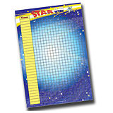 A2 Blue Sticker Collector Star of the Week Chart (A2 - 620mm x 420mm)