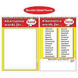 Alternative Words for 'Said' Double Sided Paper Poster (A2 - 620mm x 420mm)