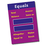 A2 Equals Symbol and Vocabulary Paper Poster
